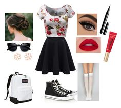 """Cute School Day"" by forevernailfashion on Polyvore featuring Converse, Rina Limor, JanSport, Marc Jacobs, Wet Seal, women's clothing, women's fashion, women, female and woman"