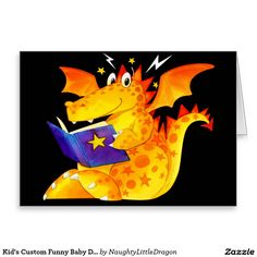 Kid's Custom Funny Baby Dragon Greeting Card