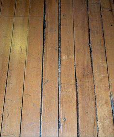 Old Pine Slivers Fill Floorboard Gaps Gap Seal Wood