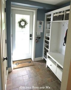 Mudroom If you're looking to make a big impact on a low budget, the combination of a Hemnes tv unit, two Hemnes bookshelves, and a bridging ...