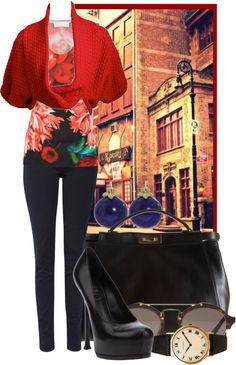 """""""Florals in Fall"""" by ssquared on Polyvore"""