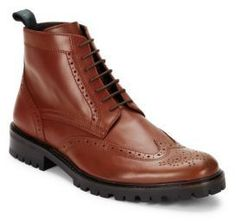 Italian Leather Lace-Up Shoes
