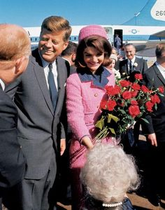 President John F. Kennedy and Jackie arriving in Dallas on November 22, 1963.