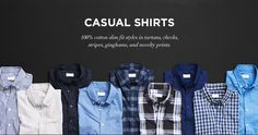Men's Shirts: Plaid, Flannel & Denim Sport Shirts from Club Monaco