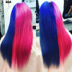 WEBSTA @ arujyansu_sibuya - #あるじゃんすー渋谷 #エクステ  #原色 #原色系カラー #ブルー #ピンク #ビビットカラー  #渋谷109  #ラフォーレ原宿  #マニパニ #ヘアスタイル #原宿系 #ファンキー #パリピ #渋谷 #かわいい #pinkhair #extensions  #flamboyant #gradation #2016 #love  # #sibuya #harajyuku #cute #vivid #bluehair