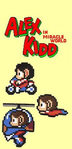 """Magnet """"Alex kidd""""retro gaming / anciens jeux vidéos, modèle au choix : Accessoires de maison par retro-geek-style Pixel Art, Alex Kidd, Art Perle, Hama Beads Design, Retro Games, Style Retro, 8 Bit, Perler Beads, Bowser"""