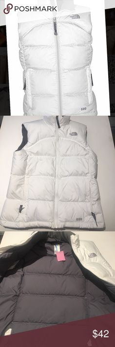 The North Face puffer vest This is a girls large, but it fits like a women's small. Goose down filling will keep you toasty.  EUC The North Face Jackets & Coats Vests