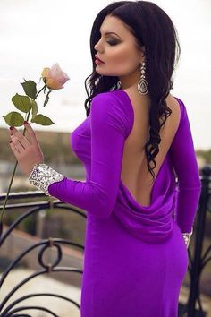 "gardenofelegance: ""Garden of Eleganceಌ "" Purple Love, All Things Purple, Purple Rain, Shades Of Purple, Purple And Black, Black White, Color Splash, Color Pop, Belle Silhouette"