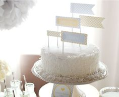 Recipe for the perfect Lemon Coconut Cake for your Sunshine Baby Shower!