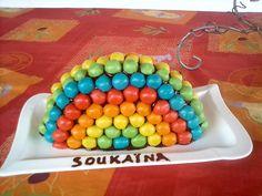 Gateau rainbow a tahiti