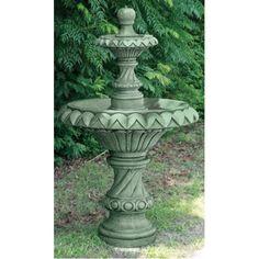Two Tier Cascading Fountain Backyard, Patio, Outdoor Fountains, House Design, Outdoor Decor, Arizona, Design Ideas, Home Decor, Homemade Home Decor
