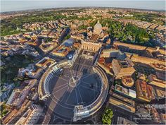 (Rome, Italy) - Vatican City State • 360° Aerial Panorama