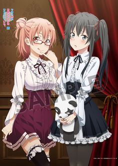 Yui Yuigahama and Yukino Yukinoshita - Oregairu [zettai ryouiki, anime girls]