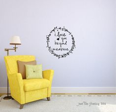 I Love You Beyond Measure Wall Decal   Gold Wall Decal   Quote Vinyl Wall  Decal   Great For A Teen