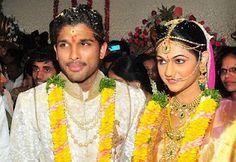 Marriage of South Indian Star Allu Arjun with Sneha Reddy