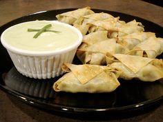 BS Recipes: Southwestern Egg Rolls with Avocado Cream Sauce