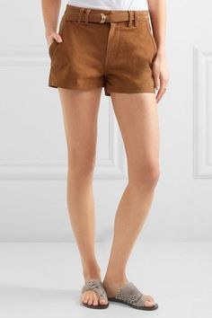 FRAME - Suede Shorts - Camel - 23