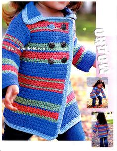 Crochet girl's coat.