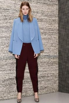 baby blue and maroon (Stella McCartney Pre-Fall)