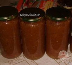 Fahéjas almalekvár Ketchup, Salsa, Jar, Food, Essen, Salsa Music, Meals, Yemek, Jars