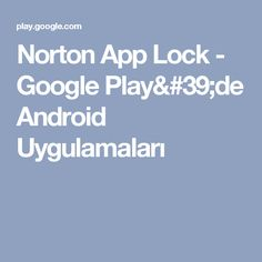 Norton App Lock - Google Play'de Android Uygulamaları