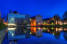 HDR in Helsinki: Blue Hour. This photo is taken in the core of Helsinki, just next to the Central Railway Station.