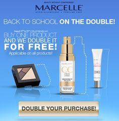#backtoschool OFFER! / OFFRE spéciale pour la #rentreescolaire! SHOP now > www.marcelle.com #sale