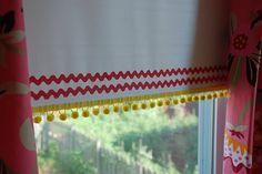Ribbon trimmed roller blinds