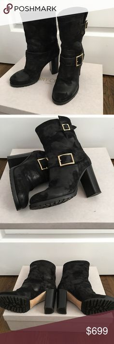 Authentic Jimmy Choo Suede Leather Boots size 6/36 100% Authentic,excellent condition,only worn once like new! Jimmy Choo Shoes Heeled Boots