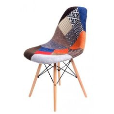 Krzesło P016W patch work, drewniane nogi Eames, Chair, Socrates, Furniture, Design, Home Decor, Scrappy Quilts, Decoration Home, Room Decor
