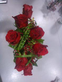 Bouquet de roses structuré