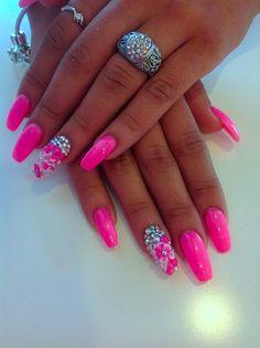 fresh gel nail designs or fall gel nails 27 pink gel nail designs com : GLITTIES Pink Glitter Powder or nail art or mix with gel nail polish, gel and acrylic powder (Neon Pink) : Beauty. GEL POLISH DRESS TO IMPRESS. Hot Pink Nails, Sexy Nails, Fancy Nails, Pink Bling Nails, Bright Pink Nails, Long Gel Nails, Glitter Gel Nails, Acrylic Nails, Gorgeous Nails