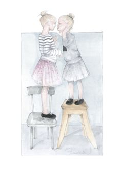 little ladies #fashionillustration #watercolor