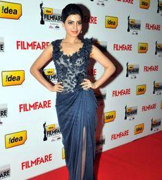 Samantha Ruth Prabhu at Filmfare Awards 2012 (South) in Hyderabad Samantha Photos, Samantha Ruth, Celebrity Outfits, Celebrity Style, Hair Style Vedio, Richa Gangopadhyay, Bollywood Images, Groom Dress, Celebs