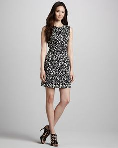 Coco Printed Dress by Milly at Neiman Marcus.