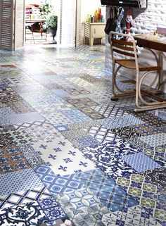 R interpr tation du motif des carreaux de ciment on pinterest interieur ti - Carreaux de ciment saint maclou ...