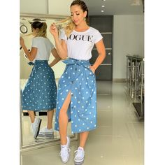 Plan Your Food Plan In Real 'Melonish' Style - My Website Casual Chic Outfits, Business Casual Outfits, Modest Outfits, Trendy Outfits, Cute Outfits, Vogue, Girls Fashion Clothes, Clothes For Women, A Line Skirt Outfits