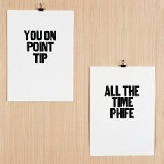 A Tribe Called Quest lyric art typography print