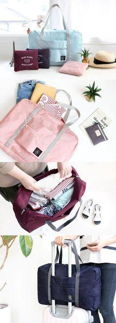 US$5.99 Large Travel Bag Waterproof Storage Bag Luggage Folding Handbag Shoulder Bag Storage Containers