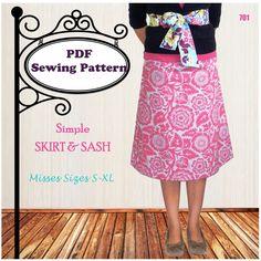 Simple Skirt and Sash #skirtpattern