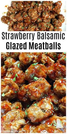Hypoallergenic Pet Dog Food Items Diet Program Strawberry Balsamic Glazed Meatballs Via Sandycoughlin Strawberry Balsamic, Strawberry Recipes, Strawberry Jelly, Fruit Recipes, Meat Recipes, Crockpot Recipes, Gourmet Recipes, Appetizer Recipes, Healthy Recipes