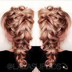 Romantic braid by Lalas Updos. HOT Beauty Magazine Braids #hotonbeauty