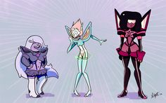 Steven Universe/Kill la Kill crossover...wow this is kinda awesome, wonder what their Kamui's names are?