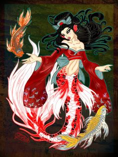 Butterfly Koi Mermaidby ~evollusive
