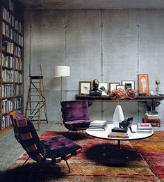industrial chic concrete walls