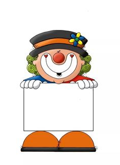 Cartel payaso Clown Crafts, Circus Crafts, Carnival Crafts, Circus Carnival Party, Circus Clown, Carnival Themes, Clowning Around, Borders For Paper, Preschool Art