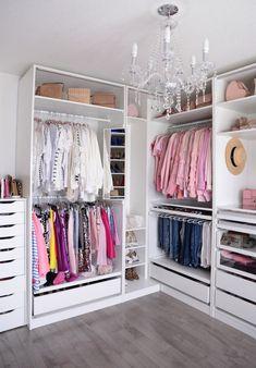 Helpful Closet Organization Tips Featuring The IKEA Pax Wardrobe Wardrobe organization