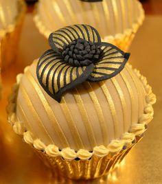 Chocolate sponge cake with caramel filling.
