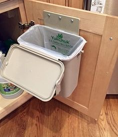 Diy Countertop Compost Bin Steam Pan Insert Into Wood Box Cool Pinterest Composting And Bo