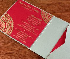 One of the most popular Indian wedding color combinations I have seen has to be red and gold!